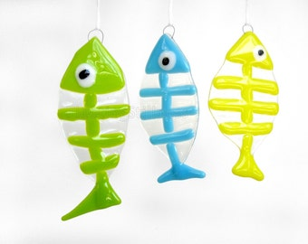 Fish Sun Catcher Ornament Fused Glass Sun Catcher Handmade