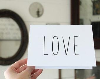 Love Card   Simple Love Greeting Card   Wedding Card   Greeting Card   Thinking of You Card