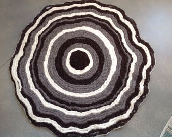 Core-spun and felted Merino Wool Rug