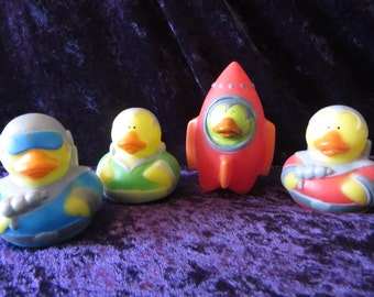 Outer Space rubber ducks - they are perfect for your little space cadets!