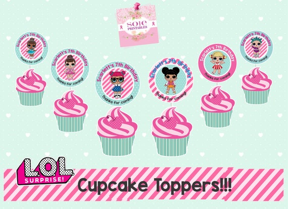 LOL Surprise Cupcake Toppers BIRTHDAY PARTY