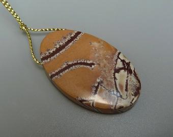 Sonoran Dendritic Pendant, Dendritic Rhyolite,Dendritic Jasper,Oval Landscape Jasper Pendant,Dendritic Jasper Pendant, Pink Rhyolite Pendant