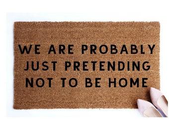Charmant Not Home Doormat.Door Mat.Welcome Mat.Go Away Doormat.Funny Doormat.Rude  Doormat.Housewarming Gift.Front Doormat.Porch Decor.Rug