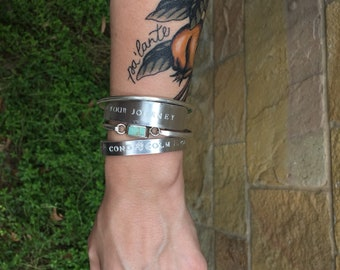 Custom aluminum cuff bracelet (thin)