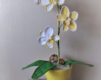 Mini crochet orchid pattern crochet flower decoration easy hand made crochet orchid ccuart Gallery