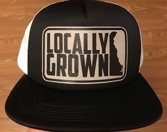 """Delaware """"Locally Grown"""" Snapback Trucker Hat"""