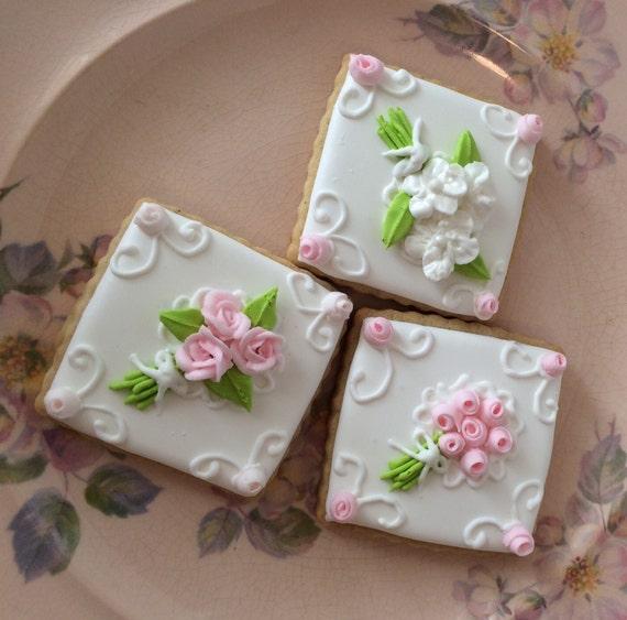 FLOWER BOUQUET Themed Custom Sugar Cookies Cardamom Spice