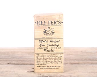 Vintage Herter's Model Perfect 38 45 Caliber Gun Cleaning Patches / Hunting Room Decor / Camping Decorations / Fishing Decor / Outdoor Decor