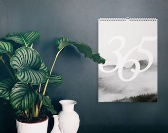 Wandkalender 2018 Landscapes / Calendar, Year, Scandinavian, Black and White, Puristic, Artprints