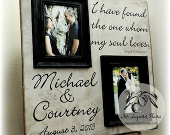 Personalized Picture Frame Wedding Gift Custom 20x20 I HAVE FOUND Anniversary Love Father Mother Parents of Shower Quote Verse Song Vows