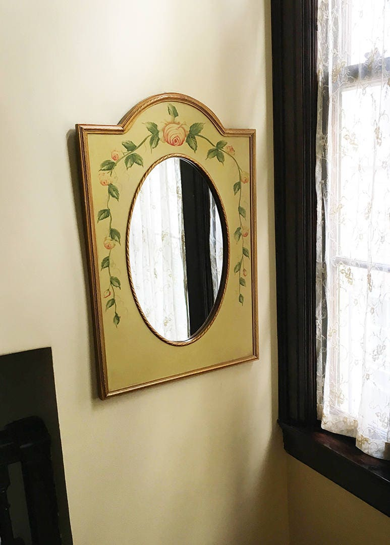Vintage Mirror Wall Mirror Bathroom Mirror Wood Mirror Hallway