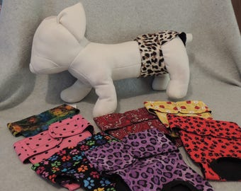 "Female Dog Diapers Small  13 1/2-17"" Your Choice"