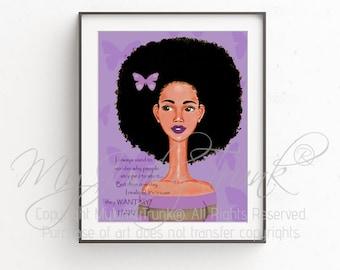 Hair Envy---African American Art Natural Hair Art Black Art Afro Woman Print
