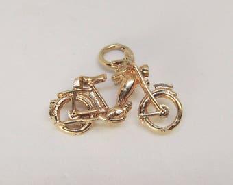 Vintage 14Kt Gold Motorcycle Charm