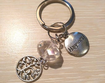 Happiness and the tree of life keychain/ accessory