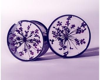 22mm Purple lace flower plugs!