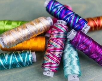 Razzle™ by Sue Spargo, 8wt Rayon embroidery thread, one roll needle work thread, cross stitch thread