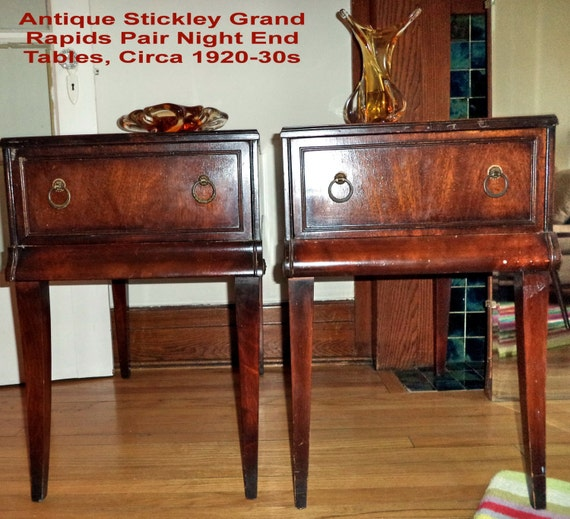 Items similar to Pair STICKLEY antique tables Grand Rapids night end