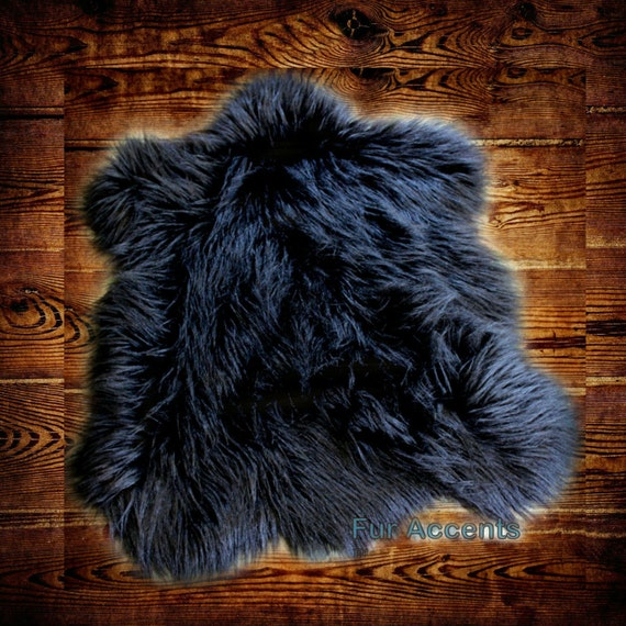 Classic Faux Fur Bear Rug Plush Soft Shaggy Area Carpet