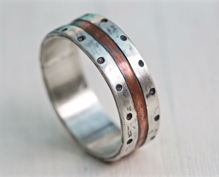 rustic organic wide prod ring unusual band wedding organ rings ourshop edinburgh