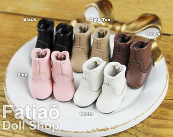 Fatiao - New fit for pukipuki / OB11 / Brownie / Middie Blythe BJD Doll Shoes Boots (Size 2.1cm)