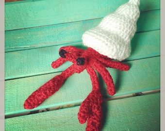Crocheted Hermit Crab