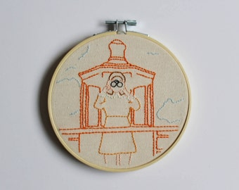 Moonrise Kingdom embroidery hoop