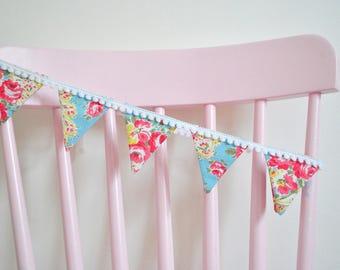 Mini Cath Kidston Bunting, fabric bunting, shelf bunting, small bunting, floral bunting, various sizes, nursery decor