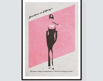 Breakfast at Tiffany's Minimalist Alternative Movie Print & Poster
