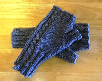The End of Your Rope Fingerless Mitts PDF Pattern