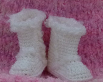 Crocheted Baby Booties Winter Boot choose a size