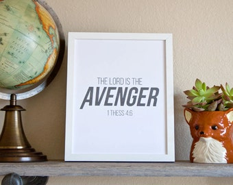 1 Thess 4:6 - The Lord is the Avenger  Wall Decor/Child/Nursery Print (Digital)