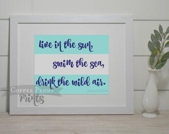 Summer Print, Sun Print, Beach Print, Printable Artwork, Art Prints