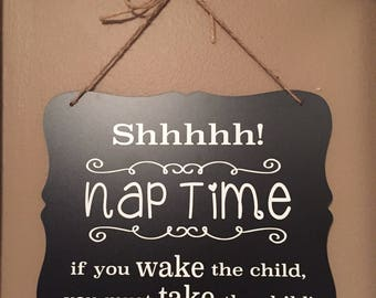 Nap time door sign! Do not disturb! Do not knock or ring bell!