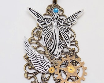 Steampunk jewelry. Steampunk necklace pendant