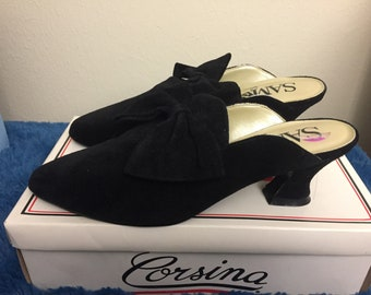 1990s sam and libby slip on heels, womans, size 8.5b