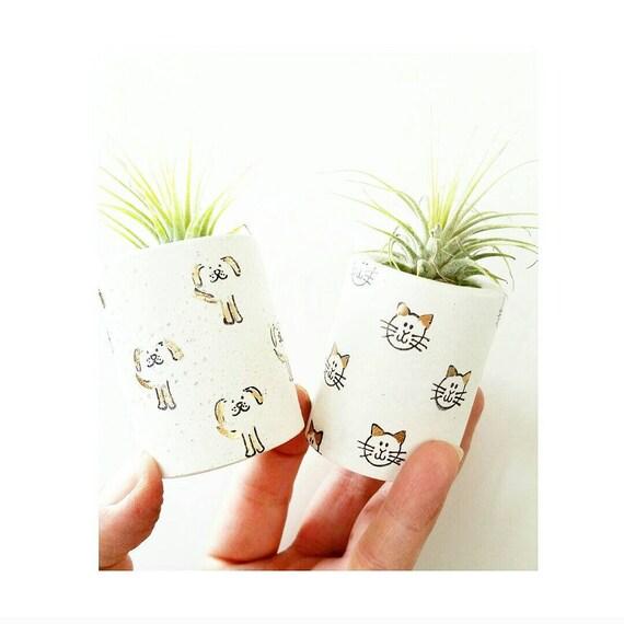 Concrete Planter/Mini Air Planter/Cat decor/ Indoor Planter/Kitty decor/Cat lover gift/Pet lover gift/Dog lover/Dog Mom/Cat Mom/Dog Mom
