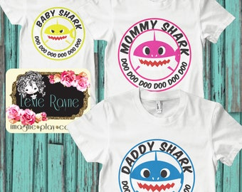 Daddy Shark, Mommy Shark, Baby Shark, Papa Bear, Shark Family, Family shirt, T Shirt, Bear family