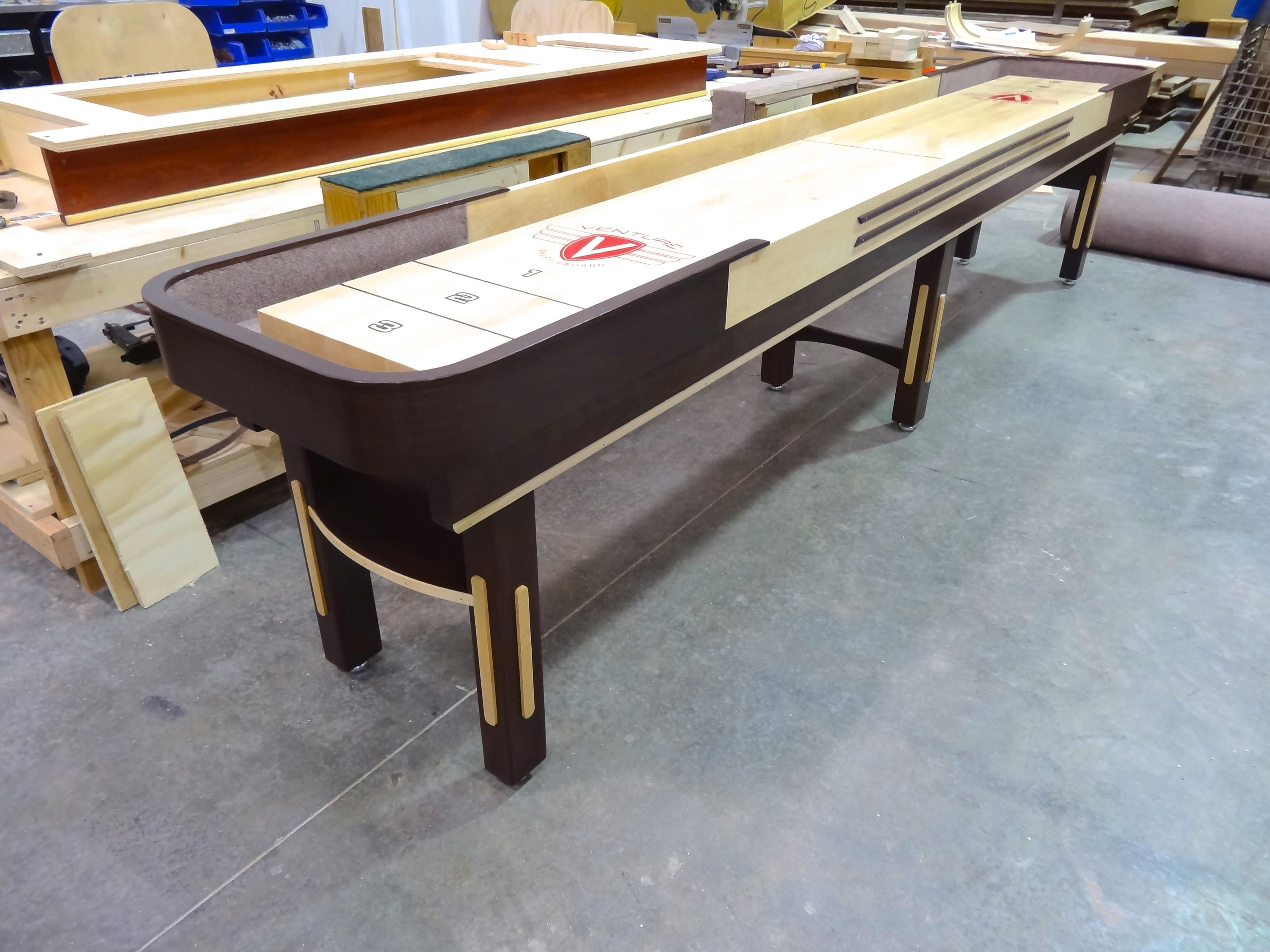 shuffleboard tables of by thrones sawyertwain table gaming rustic butcher game pin room billiards pool furniture block on
