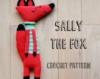 CROCHET PATTERN - Sally the fox amigurumi