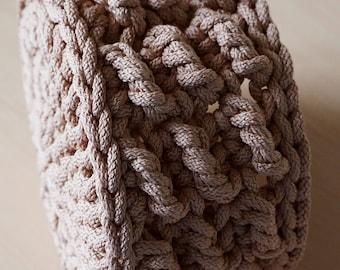 Cord basket PDF - Rope basket pattern - Cord basket pattern - Crochet basket PDF - Textured basket - Storage basket - Gift basket - Instant
