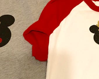 Mickey Mouse rudolph iron on decal