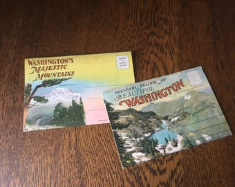 Pair of Vintage Washington State Postcard Sets- Free Shipping!