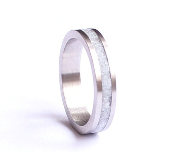 Womens Wedding Band Titanium Women Ring Stainless Steel