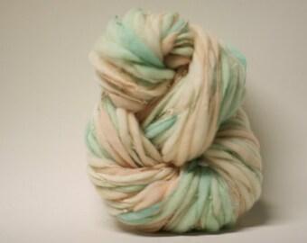 Handspun Wool Thick and Thin Yarn Slub  Hand Dyed tts(tm) Merino Bulky Self Striping xxLRH 1502b