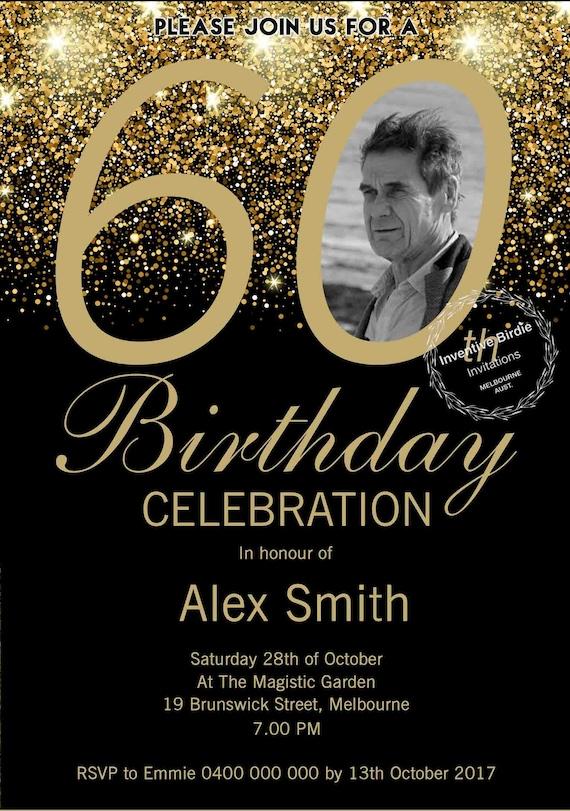 Surprise 60th Birthday Invitation 60th Birthday Invite