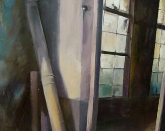 "Acrylic painting on canvas ""INTERIOR G"""
