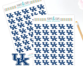 35 University of Kentucky UK Reminder Stickers