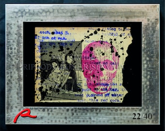 Tattoo Art Canvas Skull-Personal Limited Edition-22/40