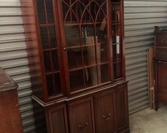 Vintage Mahogany China Hutch